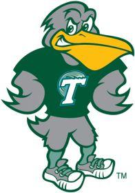1998-Pres Tulane Green Wave Mascot Logo Iron On Sticker (Heat Transfer)
