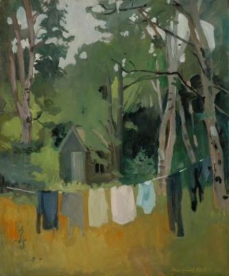 ALONGTIMEALONE: popgoesred: Fairfield Porter :: The Pump House,...