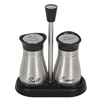Pin By Rhonda Pinkney On Gift Me Glass Salt And Pepper Shakers Stainless