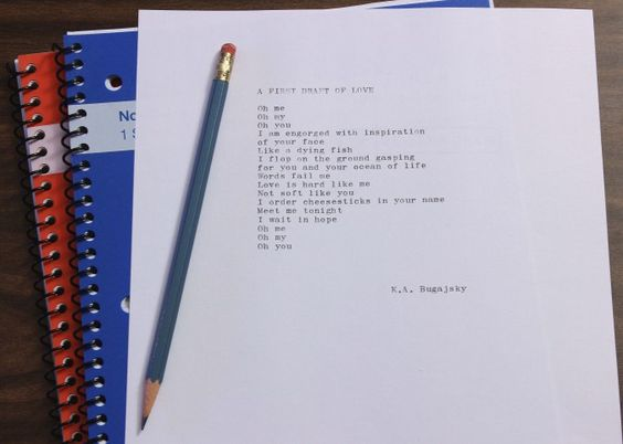 Fresh Paper Poems: A first draft of love - teenage boy poems