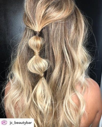 15 Incredibly Cute New Year S Eve Hairstyles 2020 Tutorials Included In 2020 Long Hair Styles Bubble Ponytail Short Hair Styles