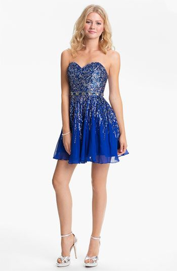 Sherri Hill Embellished Sweetheart Fit & Flare Dress (Online Exclusive) available at #Nordstrom