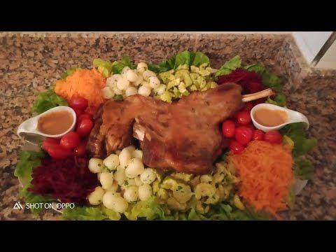 كتف خروف مشوي ومحمر في الفرن مرافق بخضر بالطريقة المغربية سهلة وبسبطة Youtube Food Chicken Rice