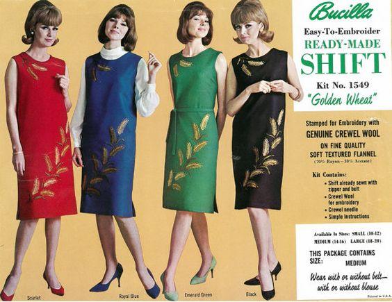 Bucilla Kit Shift Dress Vintage 1960's Wheat by relativelyretro, $25.99