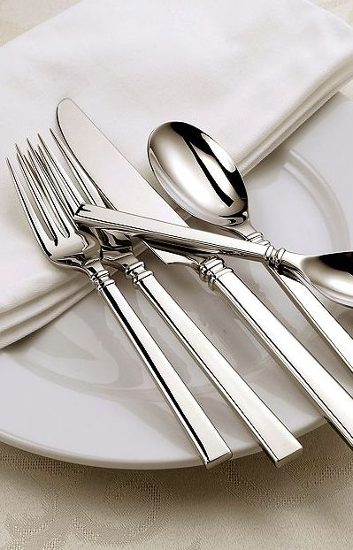 Oneida Shaker 20-Piece Flatware Set: This is the flatware I have and I love it.