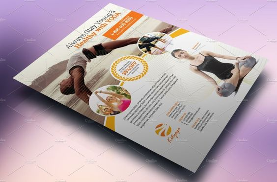 Yoga Flyer Template PSD, Word and InDesign Format Yoga Flyer - flyer format word