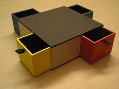 Box mit vier Schubladen. Tutorial!