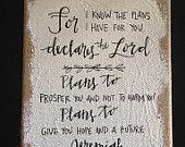 Jeremiah 29:11 Burlap Canvas