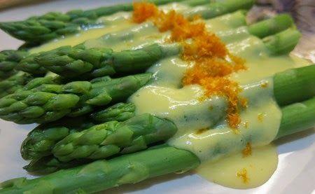 Asparagus with Tangerine Hollandaise