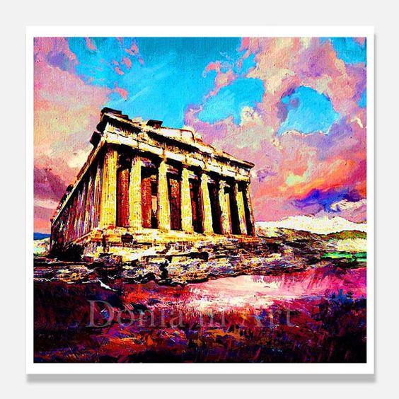 Statement Clutch - Acropolis, Greece by VIDA VIDA