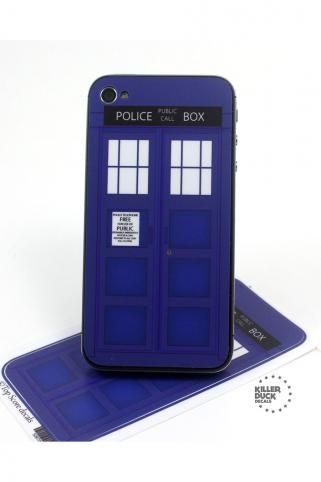 Tardis iPhone 4/4S Skin  They need to make one for my HTC Evo!