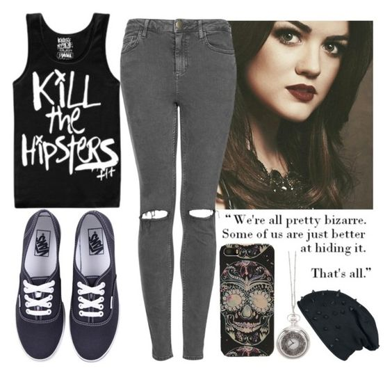 """- I'm not psycho, I just like psycho things -"" by cinderellainconverses ❤ liked on Polyvore featuring Topshop, Vans and Free People"