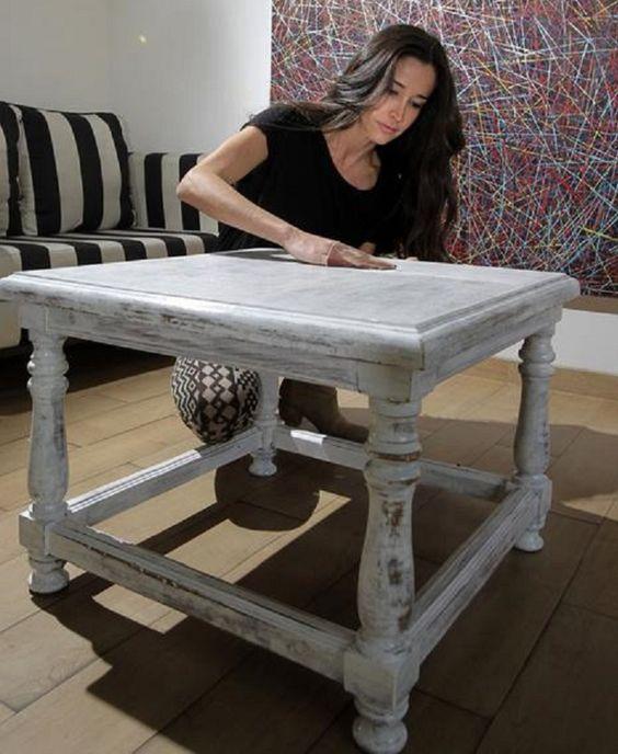 Mesas on pinterest - Como pintar un mueble ...