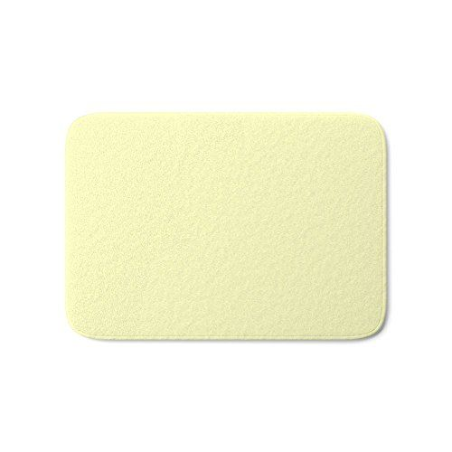 Society6 Very Pale Yellow Bath Mat 21