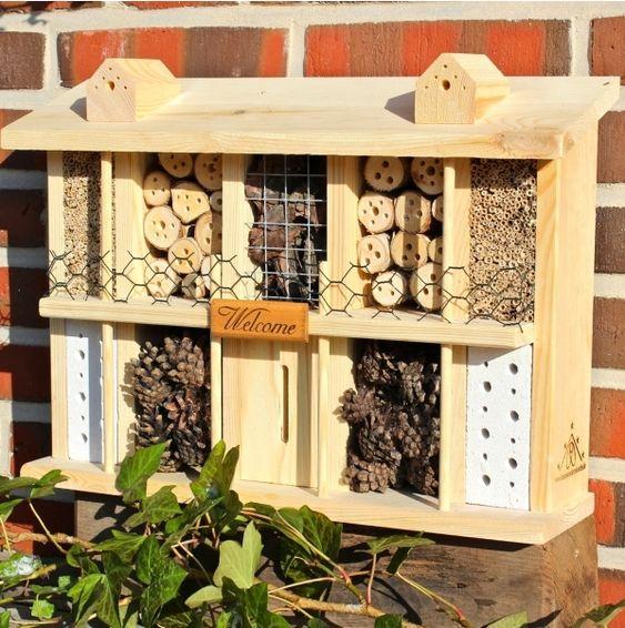 Insektenhotel Bausatz mit Bauanleitung, selbst ein wunderschönes Insektenhotel bauen.-Vogelhaus, Vogelvilla, Futterhaus, Vogelfutter, Insektenhotel, Nistkasten