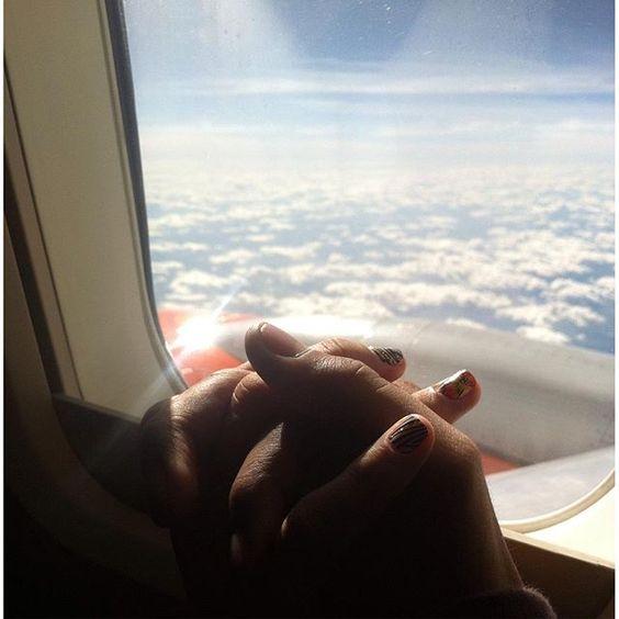 Estou no céu nós dois sentidos... Viajando com você! Te amo meu amor. #Repin @lucasgadelhabjj