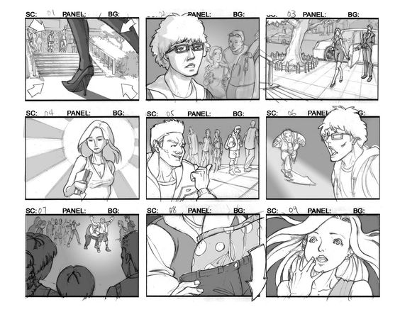 Camera Angles In Graphic Novels  Storyboards  Point Of View