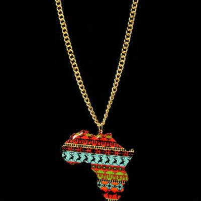 Africa statement necklace