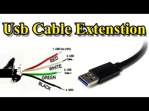 usb cable  extension different wire color  youtube  usb