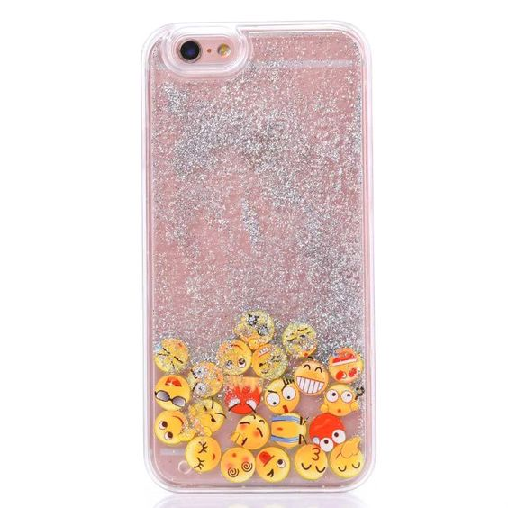 LACK Phone Case For iphone 5 5s 6 6S 4.7/ Plus 5.5 inch Dynamic Liquid Glitter Quicksand Luminous Smile Face Emoji Cover Coque