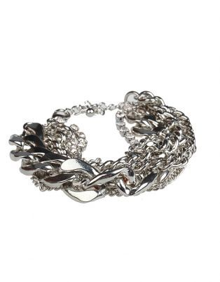 Chunky chains are in! Be bold with this trendy Fred Tsuya bracelet.