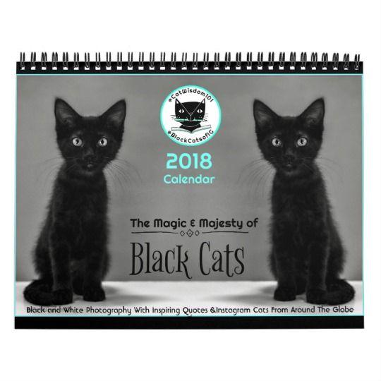 Black Cats Tell All 2018 Calendar Zazzle Com Black Cat Cat Calendar Cats