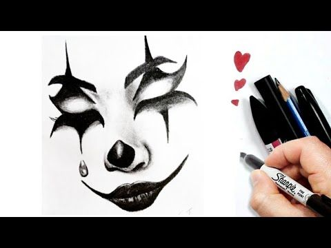 Easy Drawing How To Draw A Joker Face Easy Cool Drawings Pencil Sketch Youtube Cool Drawings Easy Drawings Pencil Drawings
