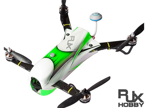 RJX CAOS 330 FPV Racing Quad Combo w/Motor, ESC, Flight Controller, Camera & FPV System (Green)