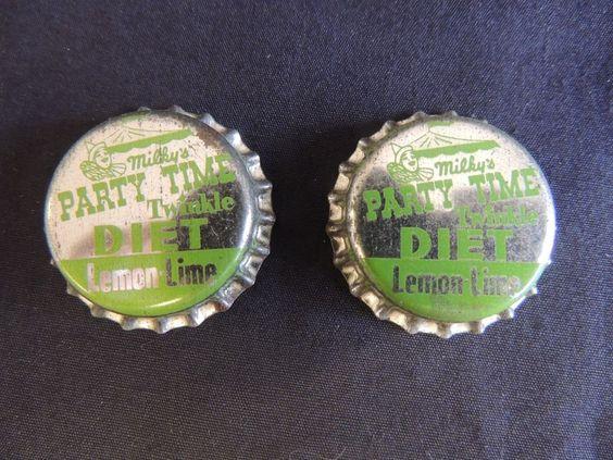 Vtg Milky's Party Time Bottle Caps Unused Detroit Clown Diet Lemon Lime Soda Pop #MilkysPartyTime