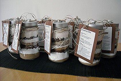 Brownie backmischung als geschenk rezept mit bild for Weihnachtsgeschenke basteln fa r erwachsene