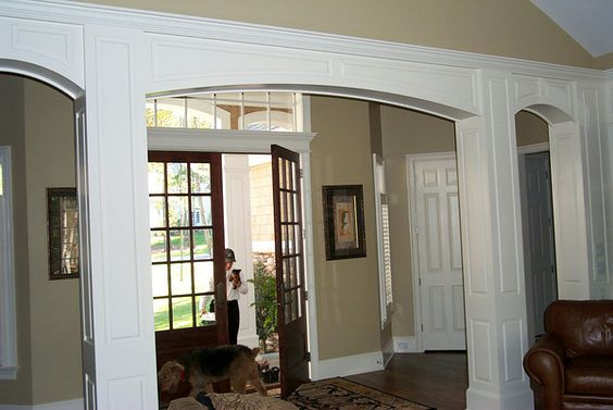 Square Interior Columns With Arches For The Home