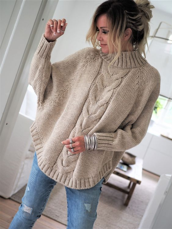 WEEKEND KNIT Blouse, BEIGE