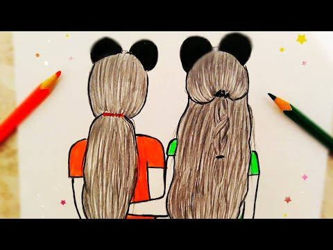 Bff Drawing How To Draw Best Friends رسم صديقات رسومات سهلة رسومات سهلة رسم بنات سهل Bff Cizimler Youtube Drawings Of Friends Drawings Art