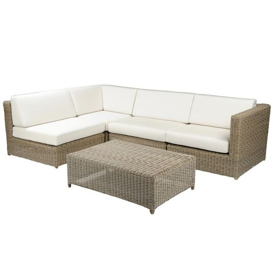 Kingsley Bate Elegant Outdoor Furniture Sag Harbor Sectional In Driftwood With Cushions In