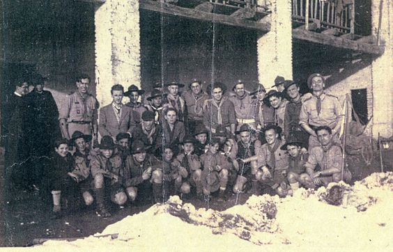 1946 Italy Milan Formation of Local Scouts with the aid of Allied Forces from the Army and RAF.