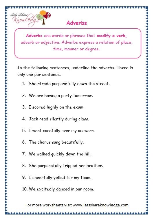 Grade 3 Grammar Topic 16 Adverbs Worksheets Conjunctions