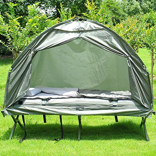 Outsunny Portable Camping Cot Tent with