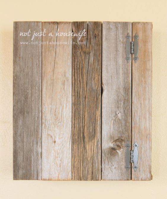 DIY simple barnwood cabinet - perfect to put in kitchen - Store TEAS in here!