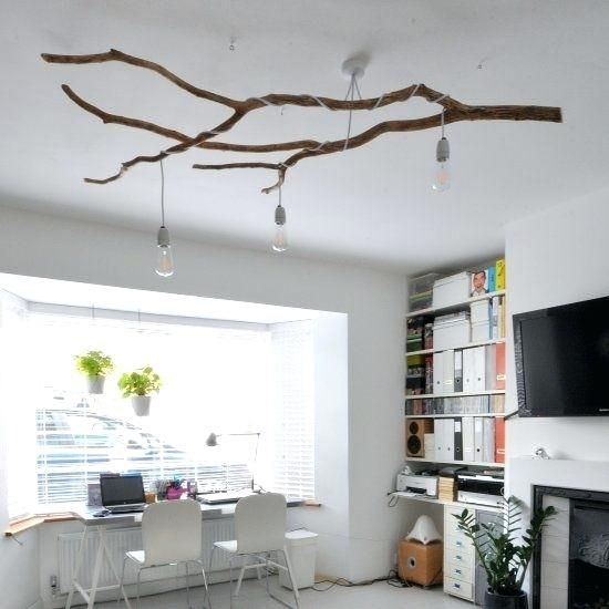 Living Room Tree Lamps Tree Branch Light Fixture Astound Strikingly Tree Branch Lamps Easy Diy Decor Diy Ceiling Diy Decor Projects