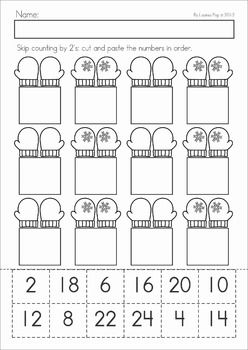 math worksheet : winter math worksheets  activities no prep  by 2 skip counting  : Kindergarten Skip Counting Worksheets