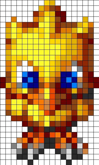 Bird Chocobo bead pattern