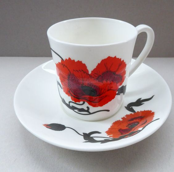 This is a lovely vintage bone china tea cup and matching saucer dating to 1971…