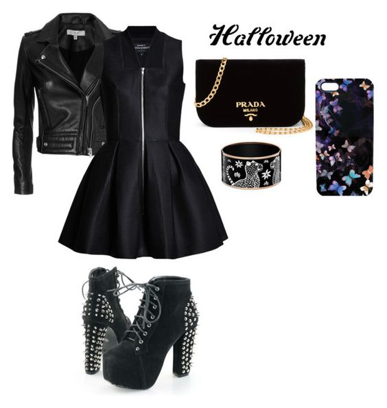 """halloween"" by landysh-1425 ❤ liked on Polyvore featuring IRO, Nikki Strange, Prada, halloweencostume and DIYHalloween"