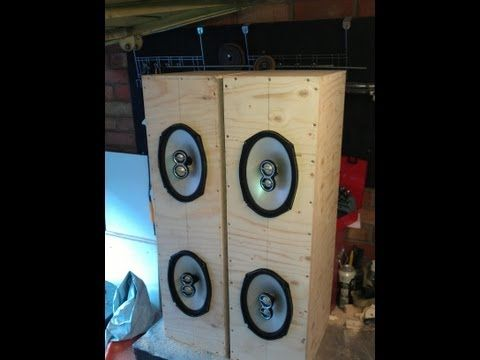DIY Tower speakers and Subwoofer with AMP - YouTube