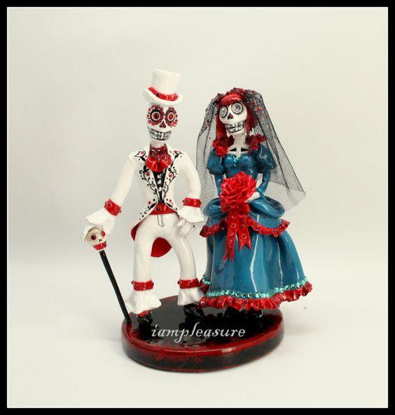 Love never die cake topper Skeleton victorian bride by iampleasure, $89.00
