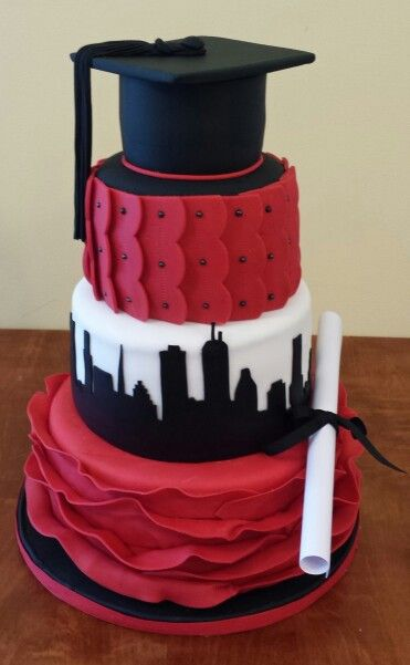Boston University Graduation Cake