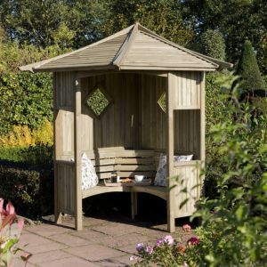 Blooma Softwood Corner Arbour With Assembly Servicenatural