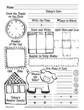 Worksheet 2nd Grade Math Review Worksheets daily math recording sheets and on pinterest number of the day sheet