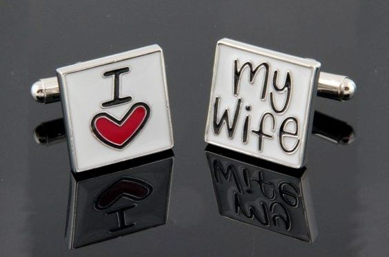 Boutons de manchette mariage I love my wife