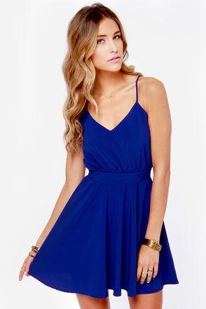 Blue dress lulus rescue